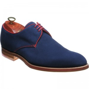 Navy Suede and Red