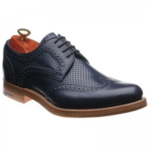 Navy Calf and Perforated Calf