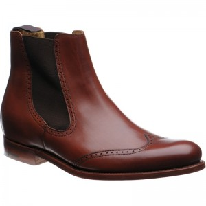 Luxembourg brogue Chelsea boot