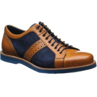 Detroit two-tone rubber-soled trainers