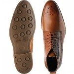 Jude two-tone brogue boot