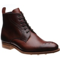 Barker Jude two-tone rubber-soled brogue boots