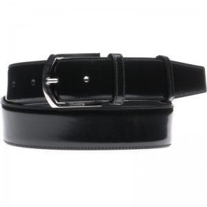 Black Polished and Silver Buckle