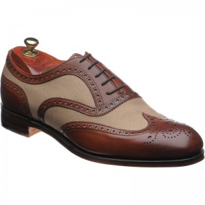 Edwin two-tone brogue