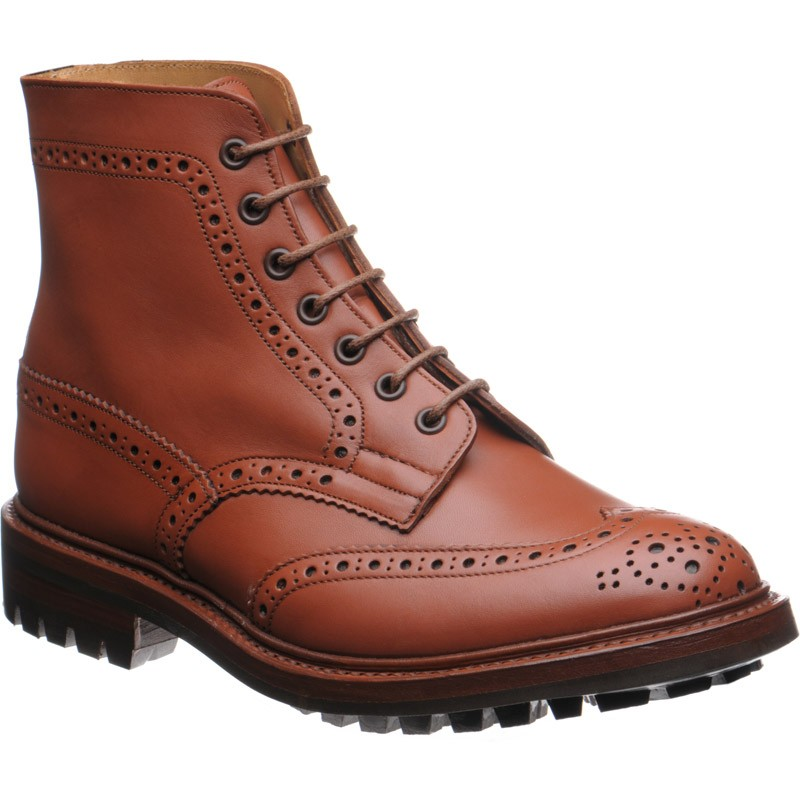 Trickers Malton rubber-soled brogue boot