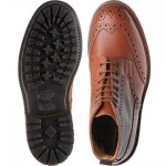 Trickers Malton rubber-soled brogue boots