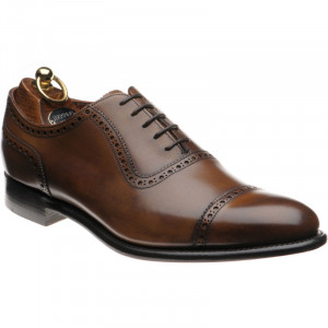 Herring Chamberlain semi-brogue in Mahogany Calf