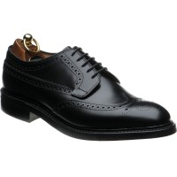 Herring Canning rubber-soled brogue in Black Calf