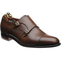Herring Attlee double monk shoe in Mahogany Calf