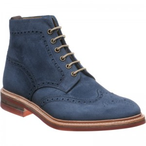 Herring Redruth OLD in Navy Oiled Suede