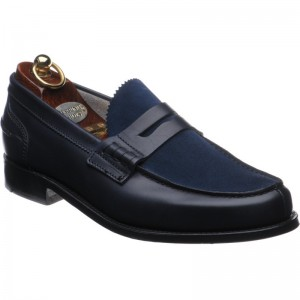 Herring Russell in Navy Calf Suede