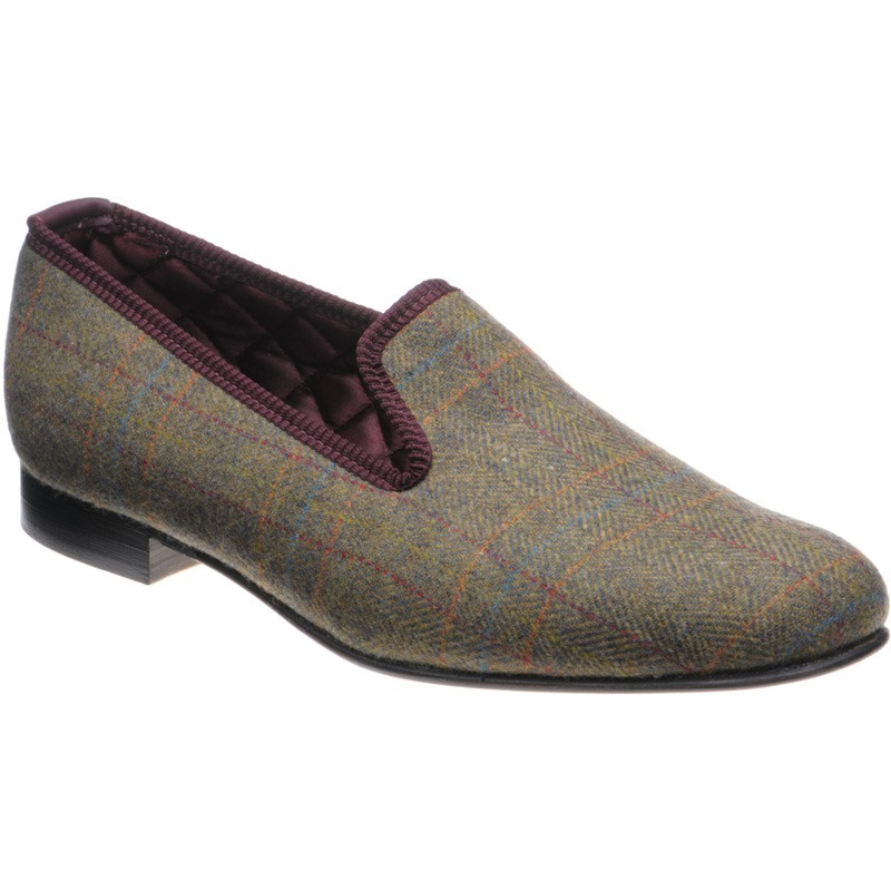 Herring Sandringham tweed slipper