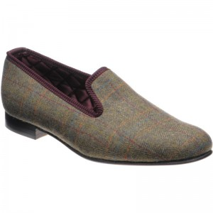 Sandringham tweed slipper
