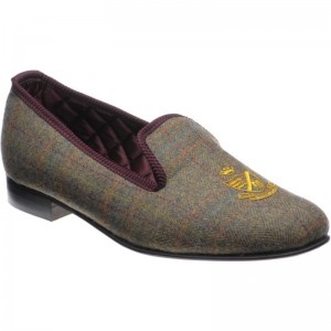 Balmoral tweed slippers