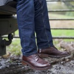 Herring Coniston two-tone brogue boot