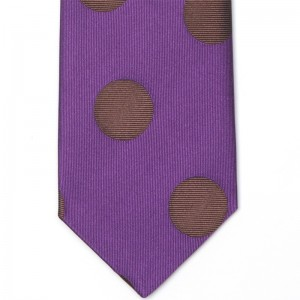 Large Spots Tie (7772 300) in Purple Brown (3)