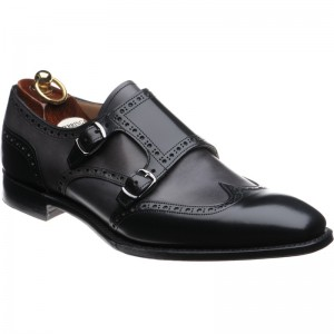 Black polished and Charcoal Calf