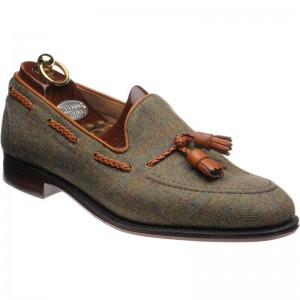 Herring Exford tweed tasselled loafers