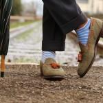 Herring Exford tweed tasselled loafer