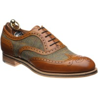 Herring Bodmin II tweed brogues in Chestnut Calf and Tweed