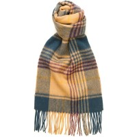 Fence Check Blue Scarf