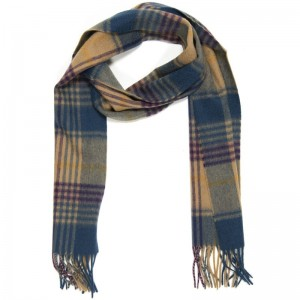 Swale Blue Check Scarf