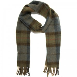 Skye Sea Check Scarf