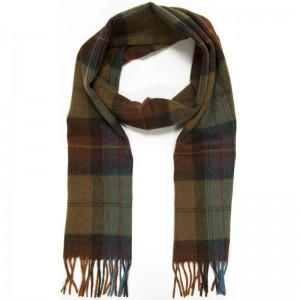 Skye Burnt Orange Check Scarf