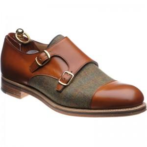 Herring Cranmere tweed double monk shoes