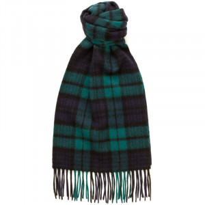Herring Black Watch Cashmere Scarf