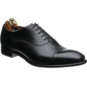Herring Churchill II Oxford in Black Calf