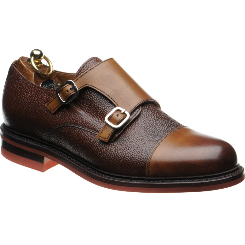 Herring Redruth two-tone double monk shoe