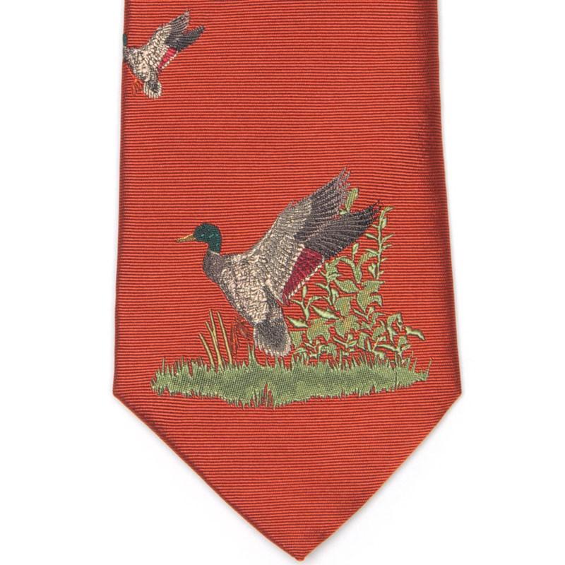 Herring Duck Scene Tie