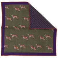 Reversible Pocket Square Foxhound (702 18)