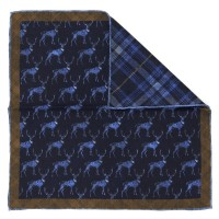 Reversible Pocket Square Stag (702 19)