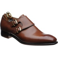 Herring Blair II double monk shoe in Conker Calf