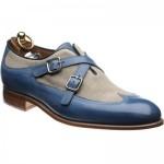 Grandola two-tone double monk shoe