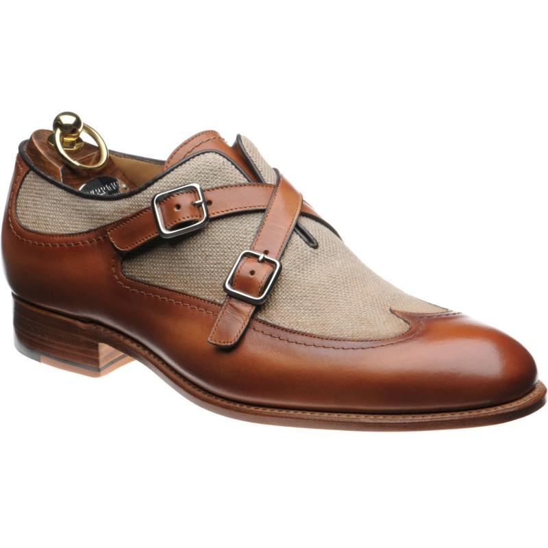 Grandola two-tone double monk shoes