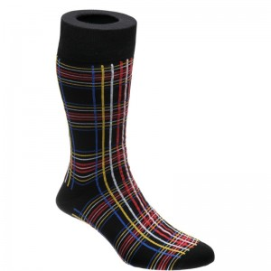 Stewart Tartan Sock in Black