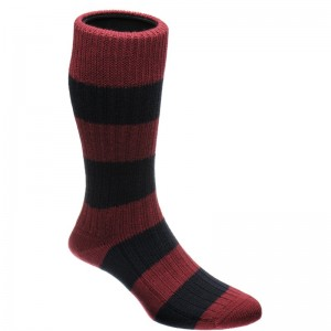 Flats Sock in Port and Navy