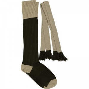 Winchester Shooting Sock in Beige and Brown
