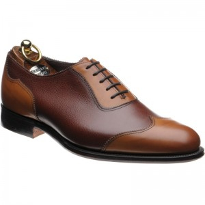 Harold in Chestnut Calf and Pin Grain