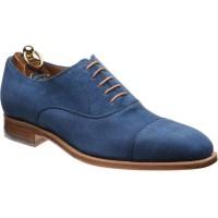 Herring Ilmington Oxfords in Blue Suede
