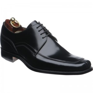 artemis shoes. loake artemis in black polished shoes