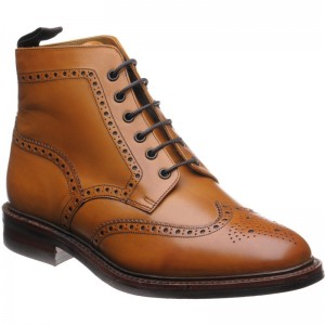 Wolf (Warm Lined) rubber-soled brogue boots