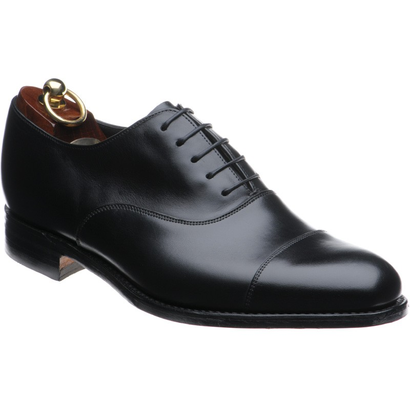 Loake Black Punched Toe Shoes