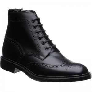 Loake Burford rubber-soled brogue boot