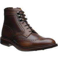 Bosworth two-tone rubber-soled brogue boots