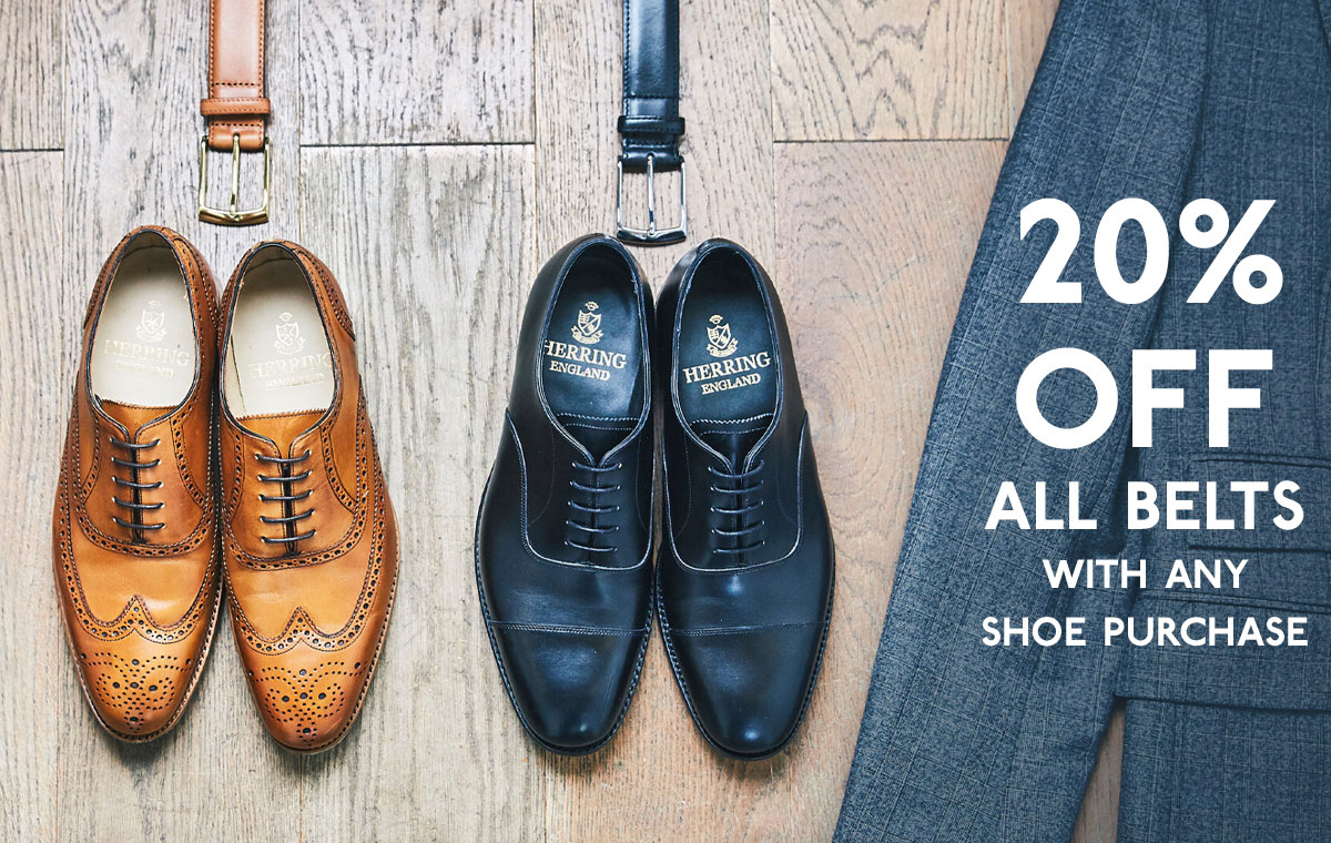 20% off belts when you purchase any shoe