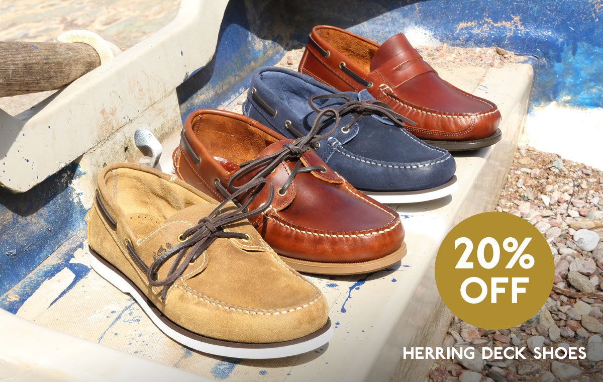 20% off Herring Deck Shoes this May